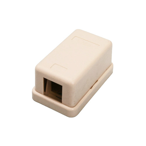 Quest NSB-5211 1-Port Ivory Unloaded Keystone Surface Mount Box