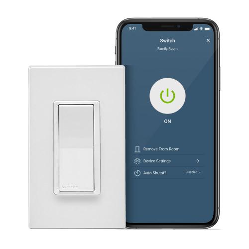 Leviton D215S-1BW Decora Smart Wi-Fi (2nd Gen) 15A Switch