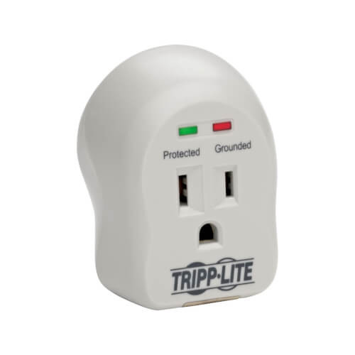 Tripp-Lite SPIKECUBE SpikeCube Series 1-Outlet Personal Surge Protector, Direct Plug-In, 600 Joules, 2 Diagnostic LEDs