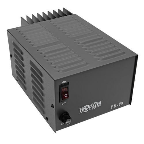 Tripp-Lite PR20 TAA-Compliant 20-Amp DC Power Supply, 13.8VDC, Precision Regulated AC-to-DC Conversion