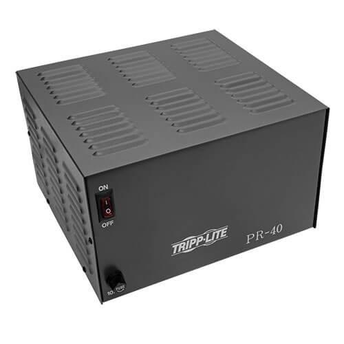 Tripp-Lite PR40 TAA-Compliant 40-Amp DC Power Supply, 13.8VDC, Precision Regulated AC-to-DC Conversion