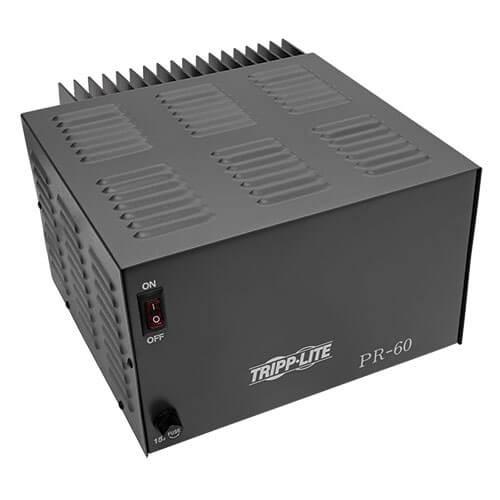 Tripp-Lite PR60 TAA-Compliant 60-Amp DC Power Supply, 13.8VDC, Precision Regulated AC-to-DC Conversion