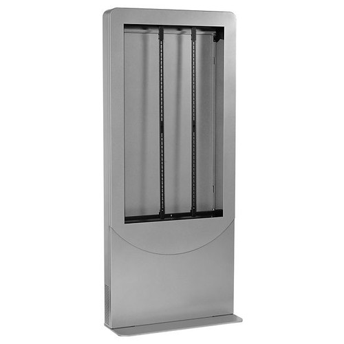 "Peerless KIPC3555 Ultra-Slim Portrait Kiosk for 55"" Displays - Gloss Black"