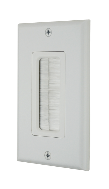 DataComm 45-0018-WH Decor Brush Plate