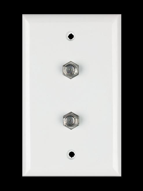 DataComm 32-0031 Dual Coax Ivory Plate, UL