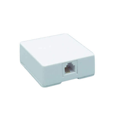 DataComm 20-2011 Color-Rite Surface Block - 4-Conductor, Ivory