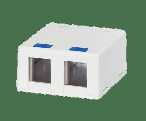 DataComm 20-5322 2-Port Surface Mount for Keystone Modules, White