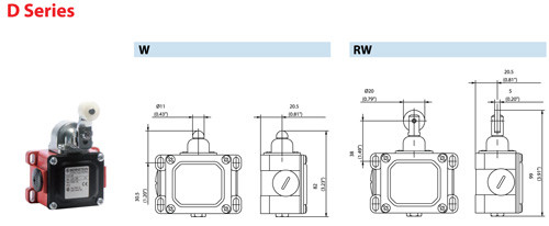Altech 604.1318.140 D Series RW Safety Switch