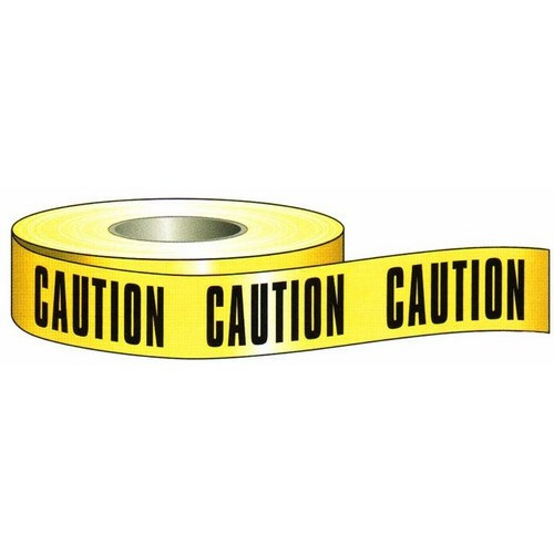 "Morris 69000 3"" x 1000Ft Barricade Caution Tape"