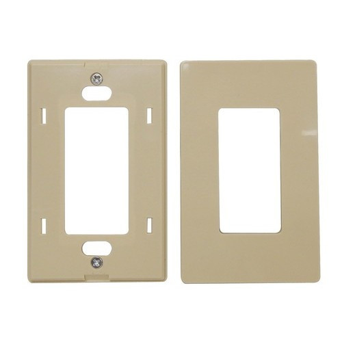 Morris 80918 Almond 4 Gang Decorative Screwless Wallplate