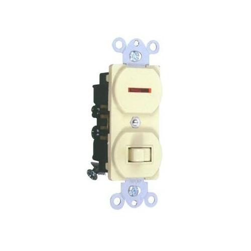 Morris 82096 Single Pole White 15A-120V Toggle Switch & Pilot Light
