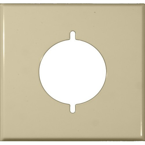 Morris 83487 White 2 Gang Range/Dryer Painted Steel Wall Plate