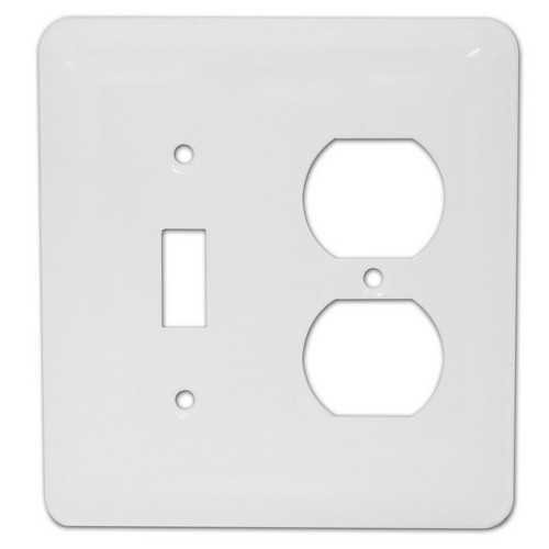 Morris 83673 Ivory 2 Gang, 1 Toggle & 1 Duplex Princess Midsize Painted Steel Wall Plate