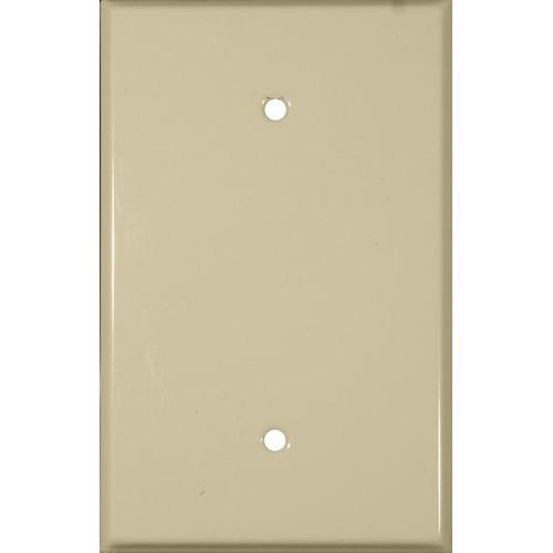 Morris 83713 Ivory 1 Gang Blank Painted Steel Metal Wall Plate
