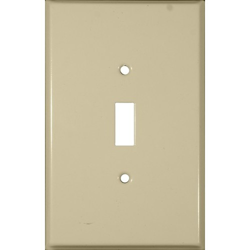 Morris 83723 Ivory 1 Gang Toggle Switch Painted Steel Metal Wall Plate