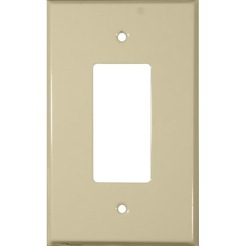 Morris 83743 Ivory 1 Gang Decorative/GFCI Painted Steel Wall Plate