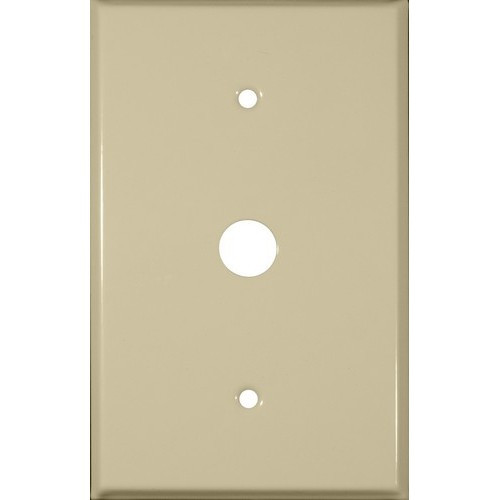 Morris 83763 Ivory 1 Gang Phone/Cable Oversize Painted Steel Wall Plate