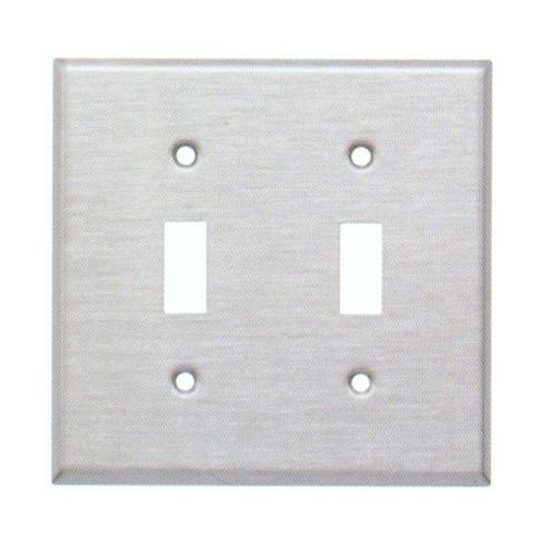 Morris 83812 Stainless Steel 2 Gang Toggle Switch Wall Plate