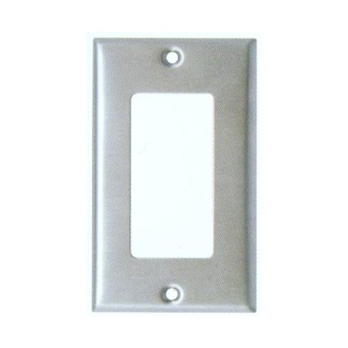 Morris 83821 Stainless Steel 1 Gang Decorative/GFCI Wall Plate
