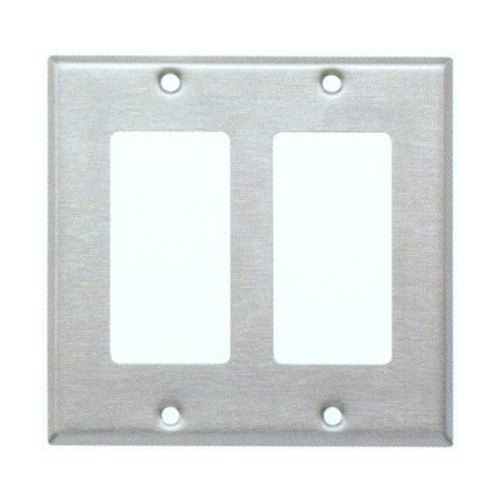 Morris 83822 Stainless Steel 2 Gang Decorative/GFCI Wall Plate