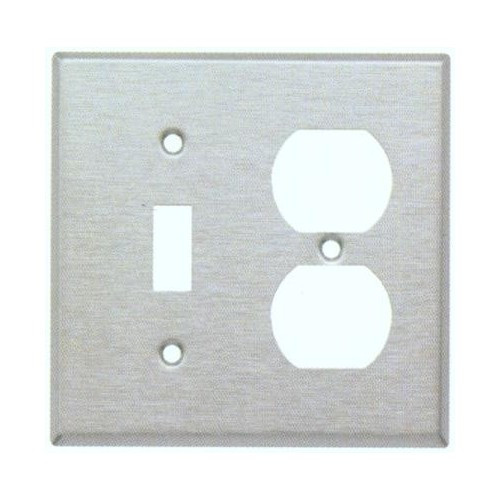 Morris 83859 Stainless Steel 2 Gang, 1 Toggle & 1 Duplex Wall Plate