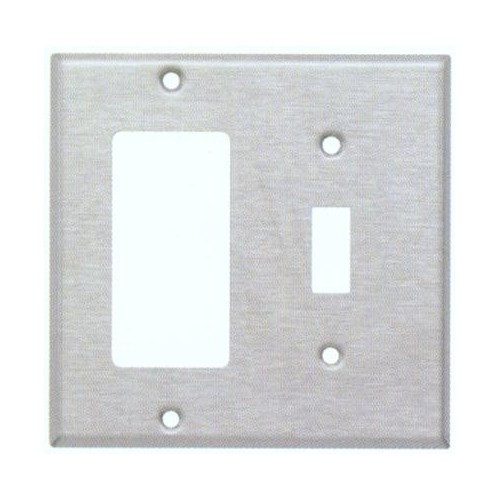 Morris 83860 Stainless Steel 2 Gang, 1 Toggle & 1 Decorative/GFCI Wall Plate