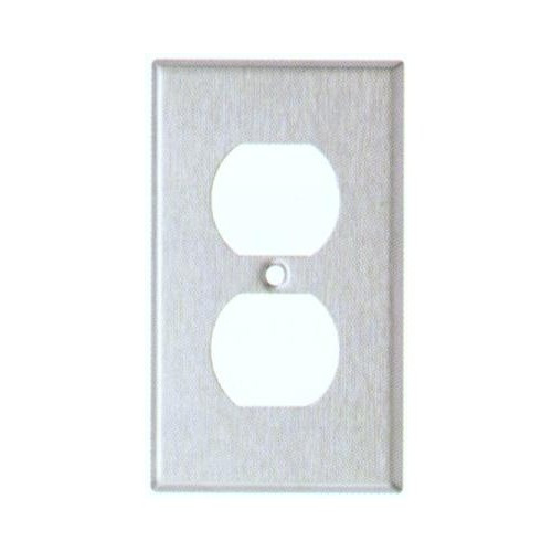 Morris 83873 Stainless Steel 1 Gang Duplex Receptacle Midsize Wall Plate