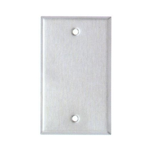 Morris 83680 Stainless Steel 1 Gang Blank Midsize Wall Plate