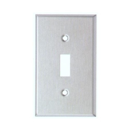 Morris 83681 Stainless Steel 1 Gang Toggle Switch Midsize Wall Plate