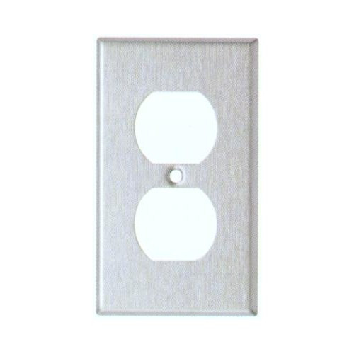 Morris 83682 Stainless Steel 1 Gang Duplex Receptacle Midsize Wall Plate