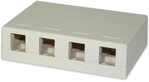 SignaMax SMKL-4 4-Port Surface Mount Box Ivory