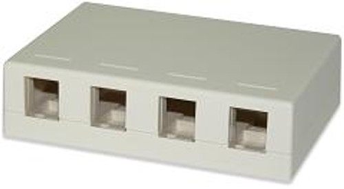 SignaMax SMKL-4-BK 4-Port Surface Mount Box Black Color