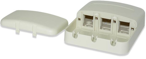SignaMax SMKT-3-WH 3-Port Surface Mount Tamper Proof Box, White