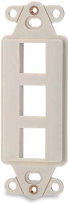 SignaMax DA-3 3-Port Decora Style Keystone Adapter, Light Ivory
