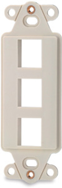 SignaMax DA-3-GY 3-Port Decora Style Keystone Adapter, Gray