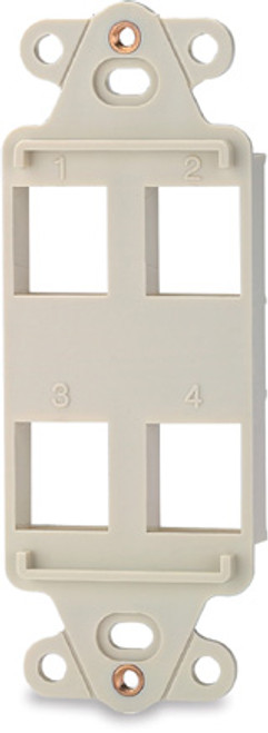 SignaMax DA-6 6-Port Decora Style Keystone Adapter, Light Ivory