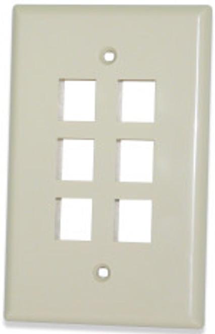 SignaMax SKFM-6-WH 6-Port Single Gang White Oversize Faceplate