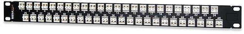 SignaMax 48HD1SC-FT 48-Port (48-Fiber) SC OM1/OM2 Feed-Thru Patch Panel, 1RMU