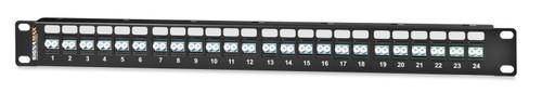 """SignaMax 24HDST-FT 24-Fiber High-Density ST MM Panel, 1.75""""H"""