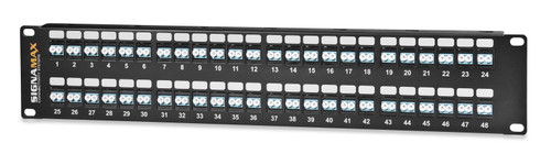 SignaMax 48HDSC-FT 48-Port (48-Fiber) SC OM1/OM2 High Density Panel, 2RMU