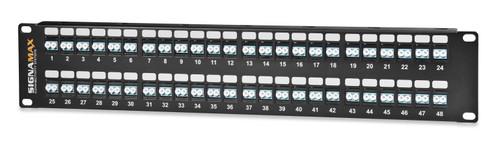 SignaMax 48HDST-FT 48-Port (48-Fiber) ST OM1/OM2 High Density Panel, 2RMU