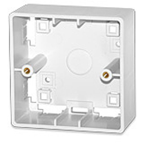 SignaMax SMB-85-WH Surface Mount Box for 86 x 86 International Outlets, White