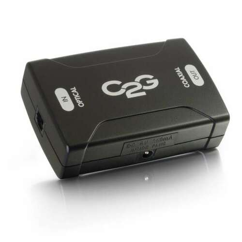 C2G 40019 Optical to Coaxial Digital Audio Converter
