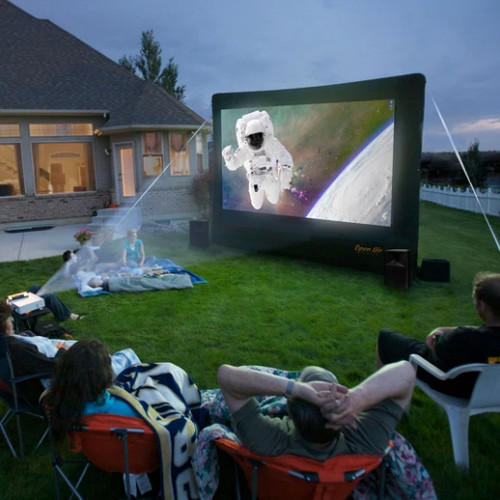 Open Air Cinema H-9 9Ft. Home Outdoor Movie Screen Kit