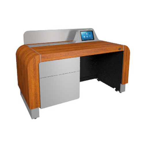 Middle Atlantic L7 Series Pre-Configured Lectern in Glamour Cherry with Silver Accents