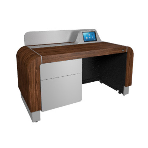 Middle Atlantic L7 Series Pre-Configured Lectern in Montana Walnut with Silver Accents
