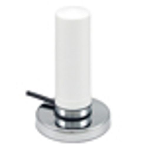 L-Com HG72703MGURW-NM Cellular/WiFi Multi-Band 3 dBi White Omni Antenna w/Magnetic Base - N-Male Connector