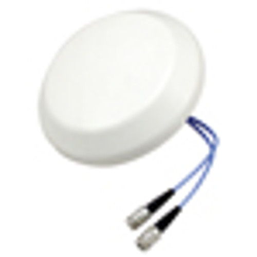 L-Com HG72706DPCUPR-NF 698-960/1710-2700 MHz Low PIM Rated 2x2 MIMO Ceiling Mount DAS Antenna - N-Female