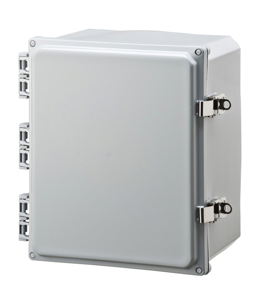 Integra H12106HFLL Traditional High Impact Polycarbonate Hinged Enclosure with Opaque Locking Latch Cover & Mounting Flange