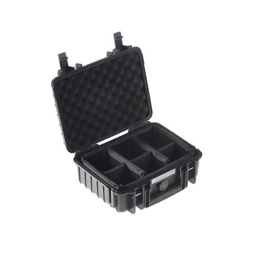B&W 1000/B/RPD Type 1000 Black Outdoor Waterproof Case